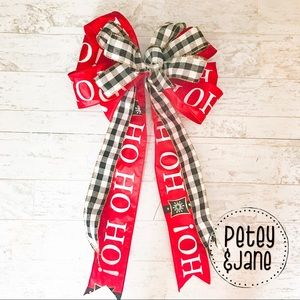 Other - { P E T E Y & J A N E } Christmas Decor Wreath Bow